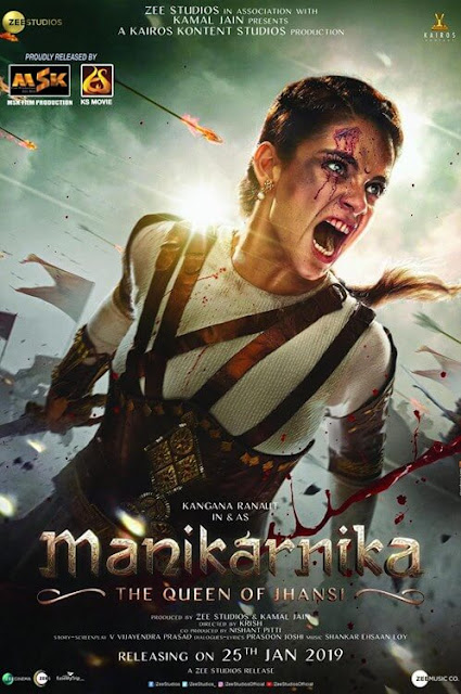 Manikarnika: The Queen of Jhansi 2019 Movie 720p 480p DVDRip