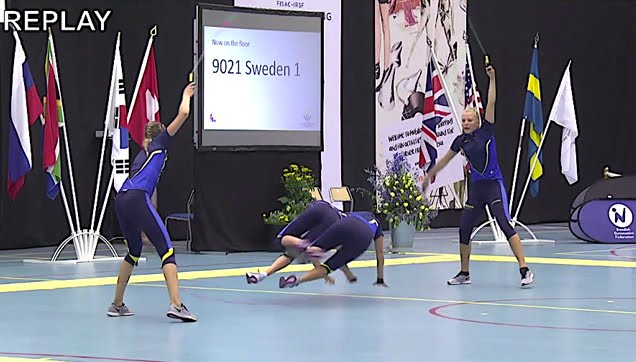 Swedish skipping rope routine in World Championship