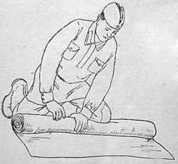 Как шинель свернуть в скатку (изготовление шинельной скатки)