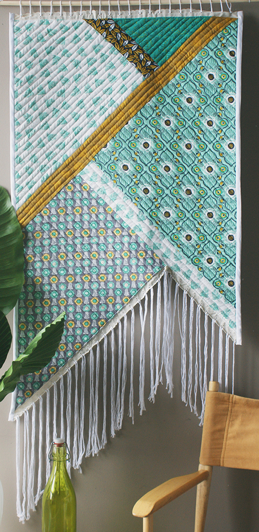 Fringed Wall Quilt By Camelot Fabrics, featuring Botanical Collection by Alisse Courter