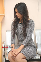 Actress Chandini Chowdary Pos in Short Dress at Howrah Bridge Movie Press Meet  0128.JPG