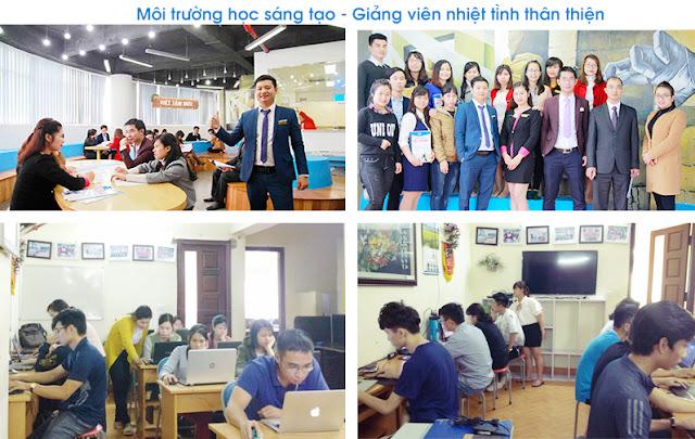 Môi trường học tập khóa học thiết kế đồ họa ngắn hạn tại Hà Nội