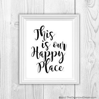 farmhouse typography print this is our happy place
