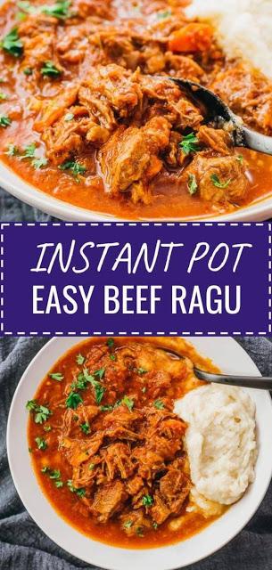 Super Easy Instant Pot Beef Ragu
