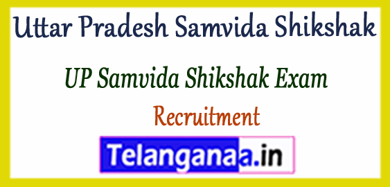 Uttar Pradesh Samvida Shikshak Recruitment 2017-18 Application