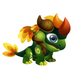 Appearance of Forest Lord Dragon when baby