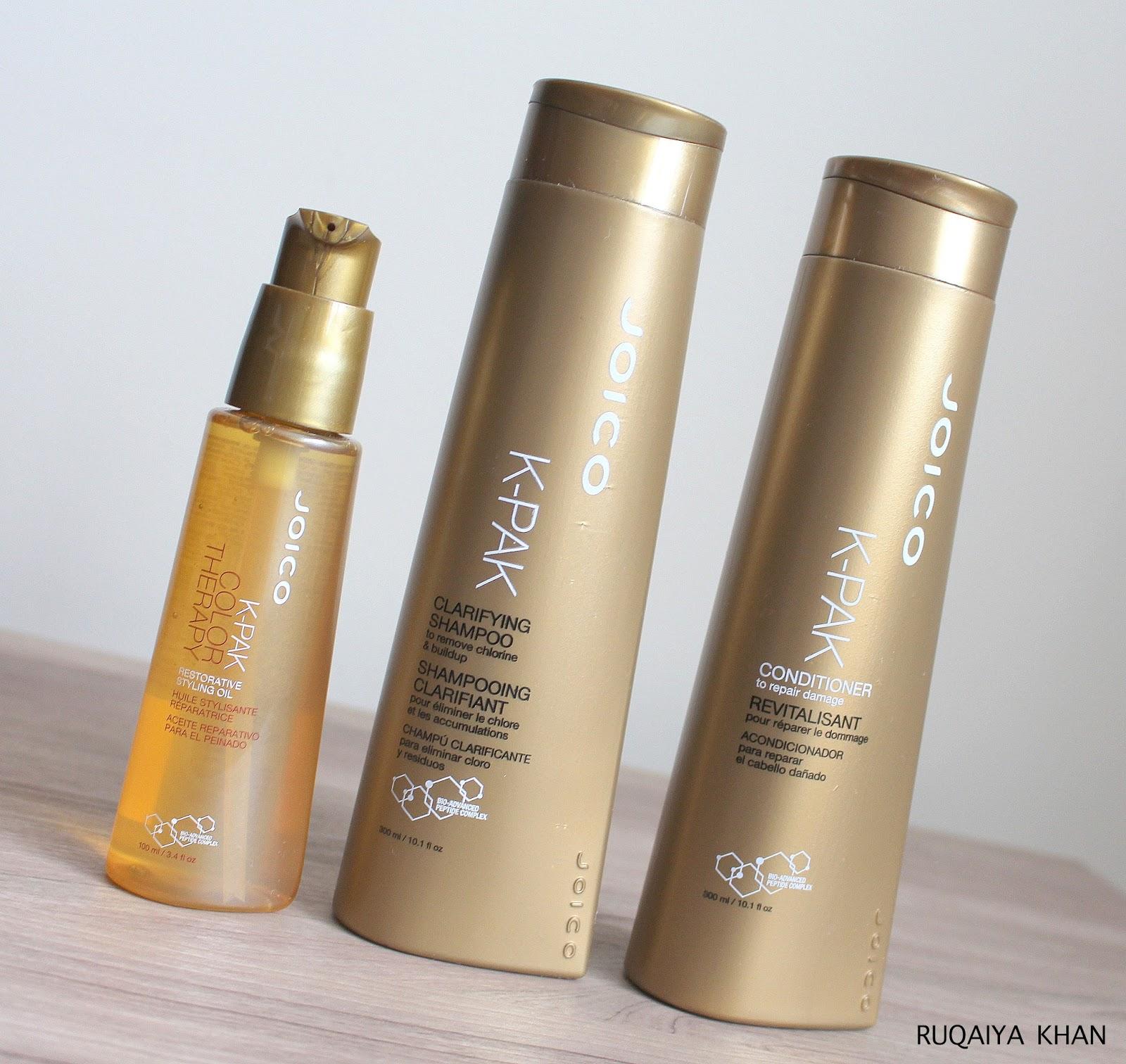 Ruqaiya Khan: JOICO K-PAK Clarifying Shampoo, Conditioner