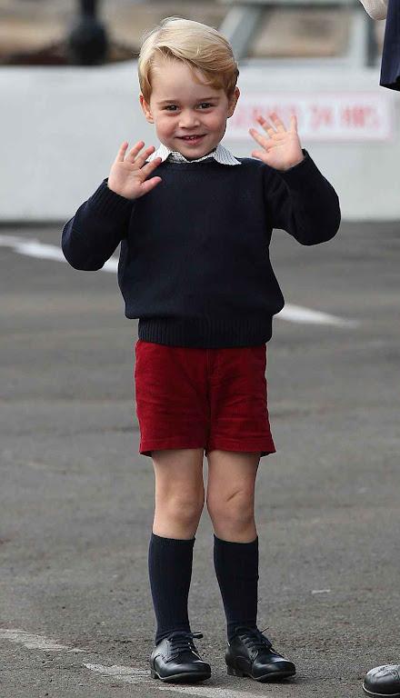 O príncipe George no Canadá, outubro 2016.