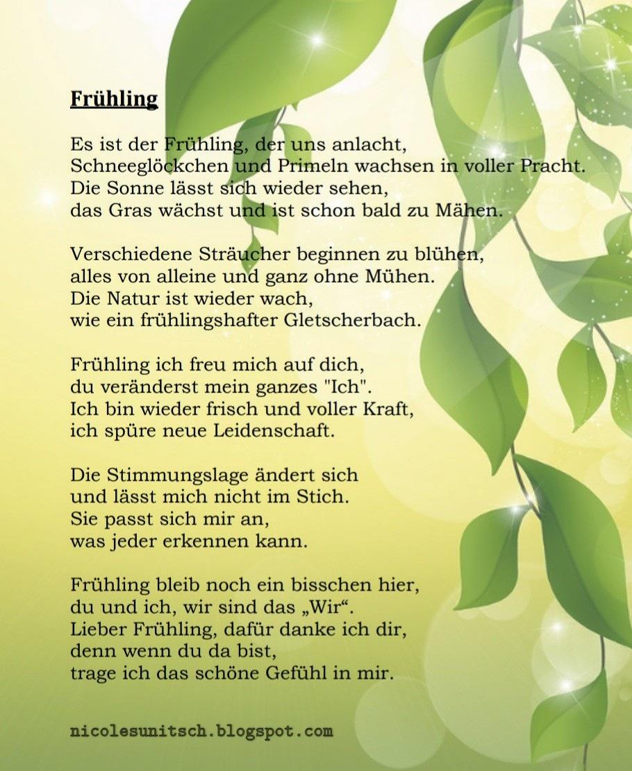 Gedichte Von Nicole Sunitsch Autorin Frühling Gedicht