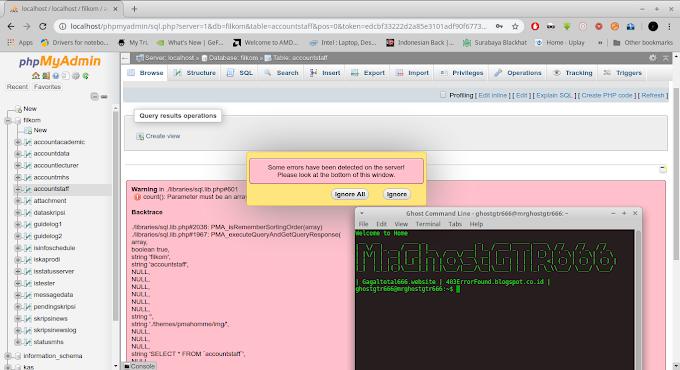 "Fix Bug ""./libraries/sql.lib.php#601"" di PHPMyadmin dengan Webserver Apache GNU/Linux"