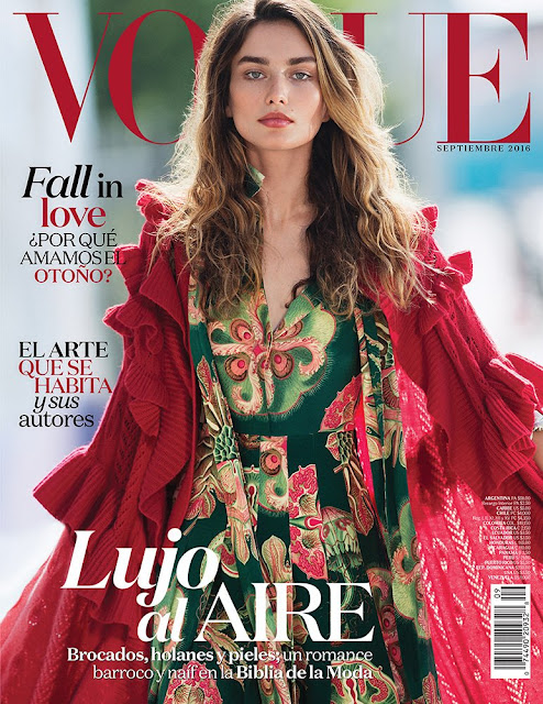 Fashion Model, @ Andreea Diaconu by Gilles Bensimon for Vogue Mexico & Latin America September 2016