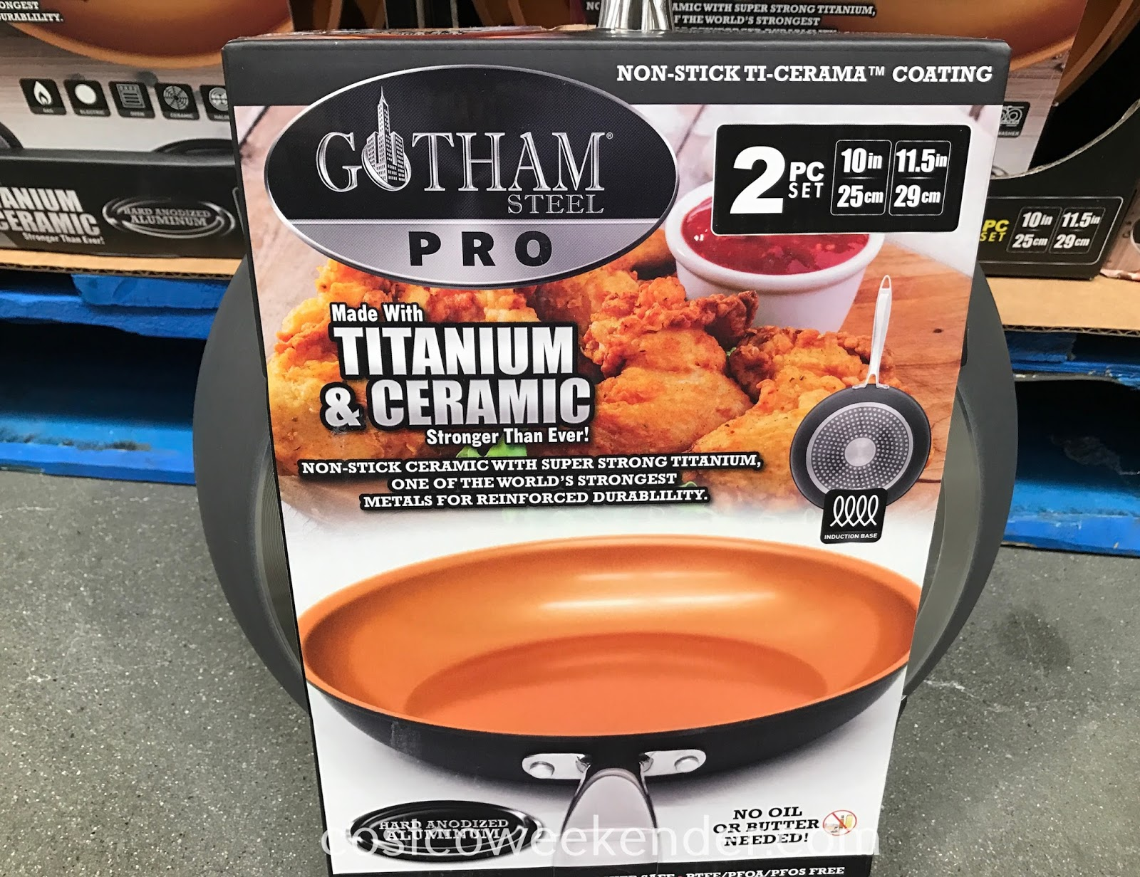 Gotham Steel Pro Ceramic Non Stick Frying Pans 2 Piece