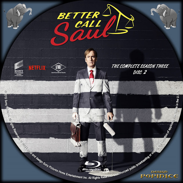 Better Call Saul Season 3 Disc 2 Bluray Label