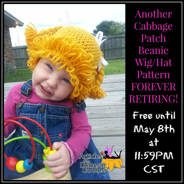 Another Cabbage Patch Beanie Wig/Hat Pattern is RETIRING FOREVER!