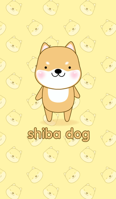 Simple Cute Shiba Inu theme