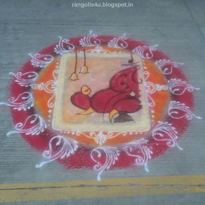Rangolis for Ganpati Festival