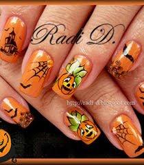 Дизайн на нокти с декорация за Хелоуин