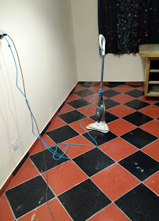 Steam mop about to get used