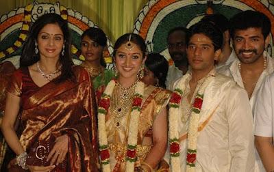 Sridevi in Sridevi Vijaykumar and Rahul wedding
