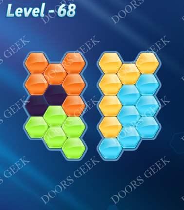 Block! Hexa Puzzle [5 Mania] Level 68 Solution, Cheats, Walkthrough for android, iphone, ipad, ipod