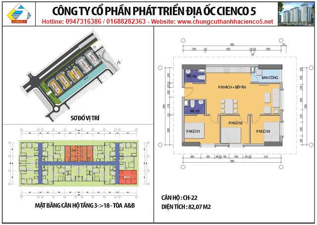 Sơ đồ thiết kế căn 22 chung cư B2.1 HH02A&B Thanh Hà Cienco 5