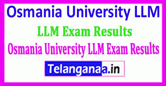 Osmania University LLM Exam Results