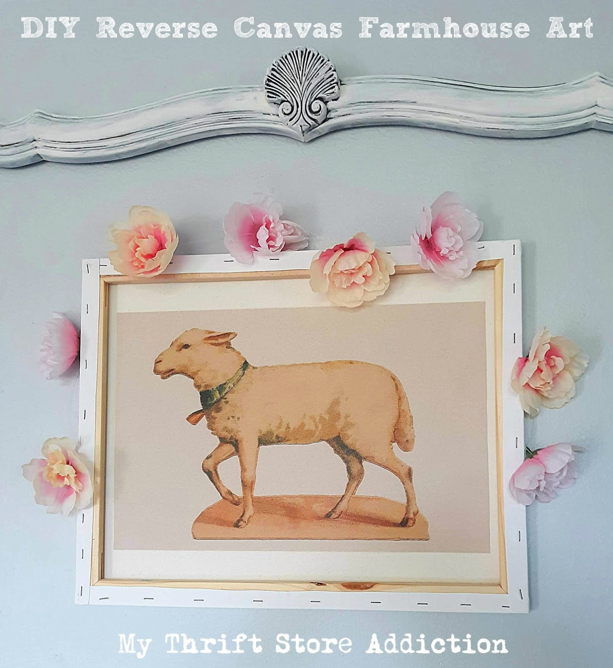 DIY Reverse canvas farmhouse art