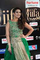 Manjusha in Beautiful Sleeveless Green Anarkali dress at IIFA Utsavam Awards 021.JPG