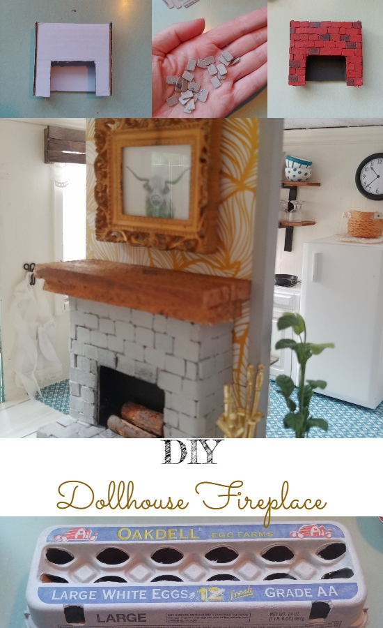 DIY Dollhouse Fireplace