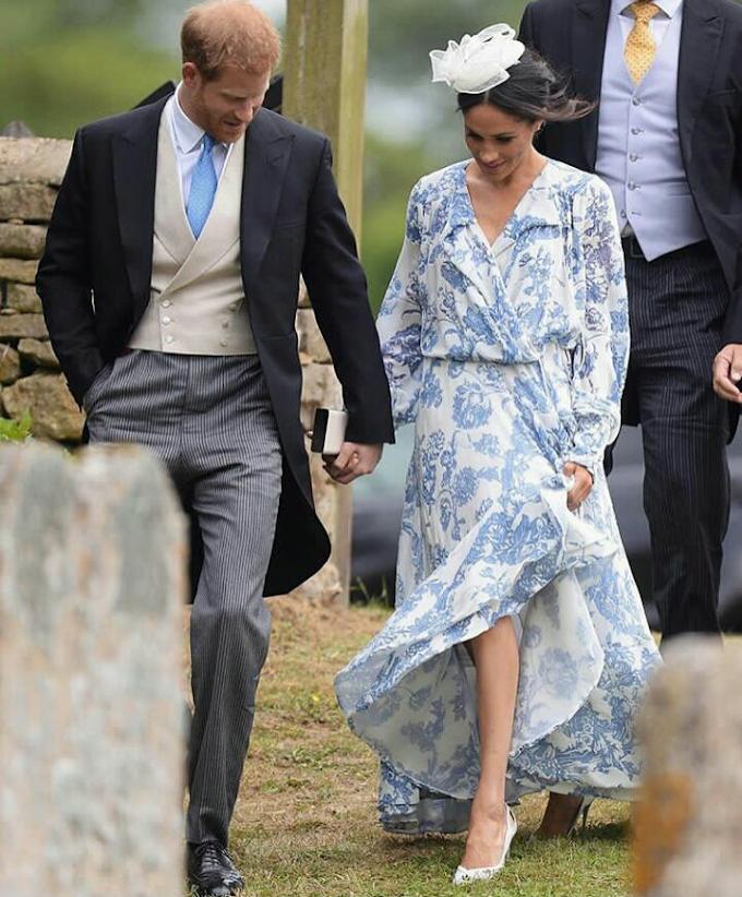Style Feature - Prince Harry And Meghan Markle Attend Family Wedding In Oscar De La Renta.