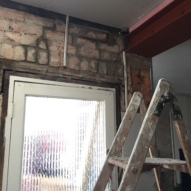 repairing cracks above door