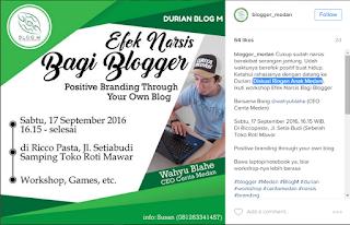 Blogger Medan (Panggilan Kecenya Blog M)