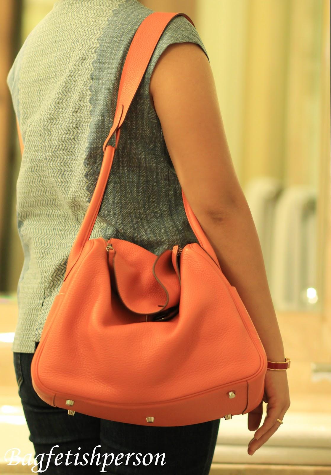 bagfetishperson: Bag of the day: Hermes Lindy 34 orange