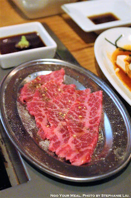 Lightly Broiled Beef with Sea Urchin at Yakiniku Futago in New York City