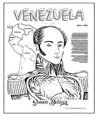 Simón Bolívar para colorear