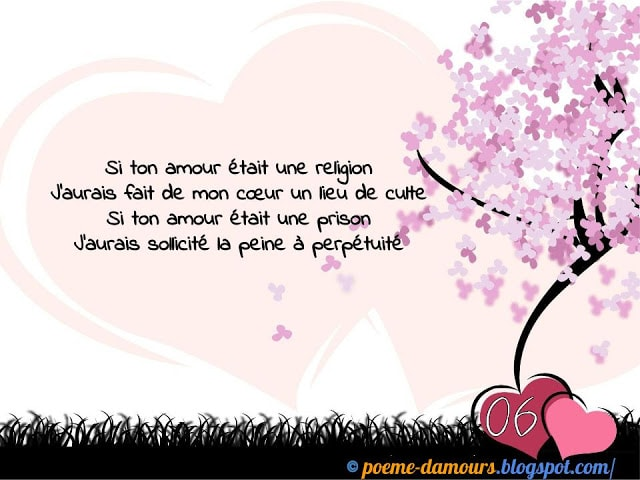 Si ton amour était une religion, j'aurais fait de mon cœur un lieu de culte...