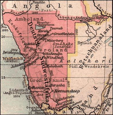 Le 24 avril 1884, le gouvernement du chancelier Bismarck en prend  officiellement possession. Les colons allemands fondent une capitale  proprette, Windhoek, ... 417c870d974