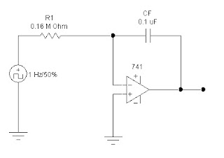 Hobby in Electronics: Integrator Circuit Using Op amp 741