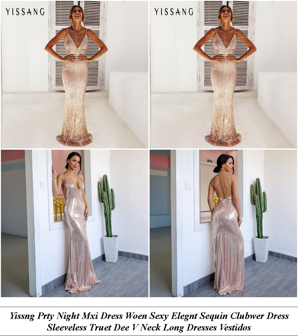 Formal Long Dresses Sydney - Vintage Clothes New York City - High Neck Casual Dress Short