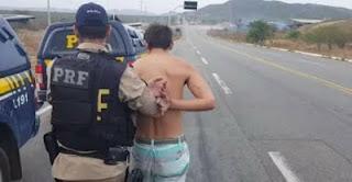 Polícia Rodoviária Federal prende dois traficantes no trevo da Rajada. Acesso a Carnaúba dos Dantas