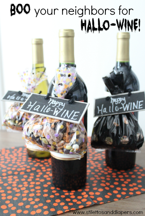 Boo your neighbor wine printable