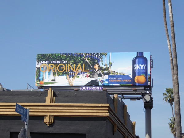 Skyy Infusions California Apricot Vodka billboard