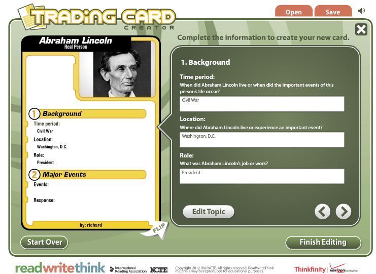 Spear Tip Education: Online Trading Cards: web and app versions