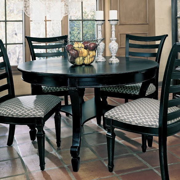 Black Dining Room Furniture Decorating Ideas, Black Dining Table Decor, Black Dining Room set