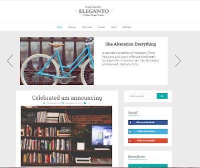 Best Minimalist Blogger Template: Eleganto