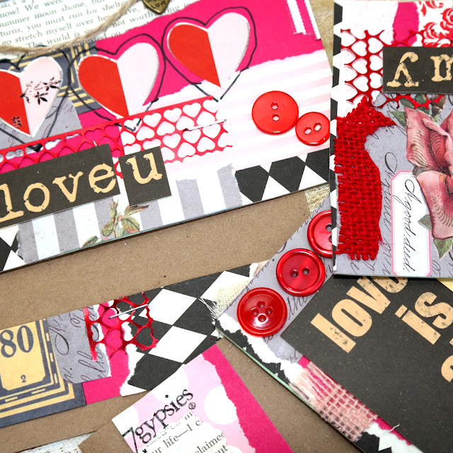 Collage Valentine Cards and Decor Tutorial by Dana Tatar for Canvas Corp Brands