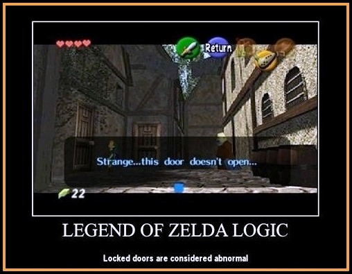 Funny Legend of Zelda Video Game Logic