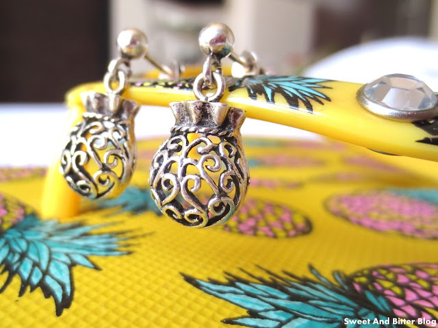 Turkish Silver Earring Pineapple