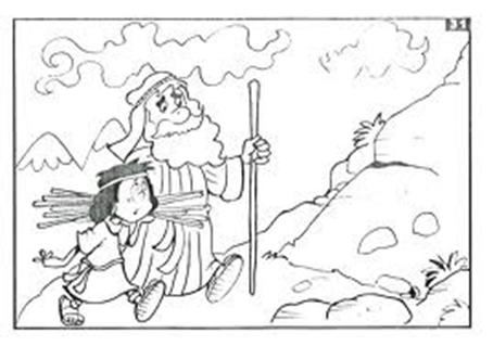 Sacrifice Of Isaac Coloring Page Coloring Pages