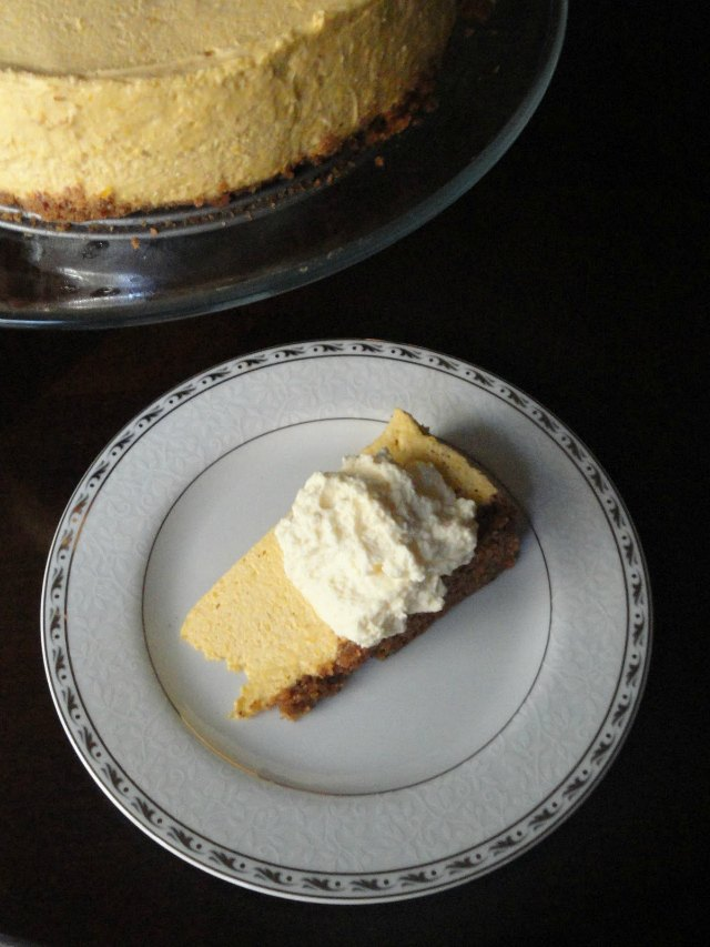 No Bake Pumpkin Cheesecake With Toasted Pecan Graham Cracker Crust recipe is a must have dessert for the Thanksgiving and Christmas dessert table from Serena Bakes Simply From Scratch.